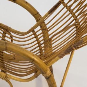 Schaukelstuhl stuhl 1950er jahre bambus und rattan for Schaukelstuhl aus bambus