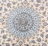 Persian Nain with silk. Kourd. Circular carpet, 310 x 310 cm