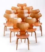 Arne Jacobsen. 12 Grand Prix chairs, teak (12)