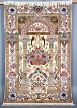 Persisk Isfahan. Kurk uld med silke, 235 x 155 cm