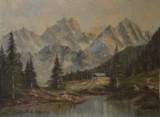 Ölgemälde H. Felzmann, 'Alpenlandschaft'