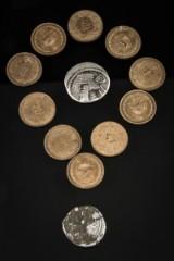 Samling  af mønter fra Parterriget og Iran. (12)