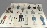 Tryk med uniformer fra C. L. Seifert bla m. uniformer fra Dansk vestindien (14)