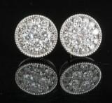 18kt diamond earrings approx. 1.00ct