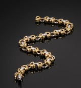 Brillantarmbånd af 18 kt. guld og hvidguld
