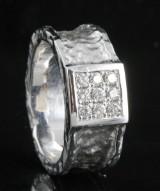 Handmade diamond ring in 18kt approx.0.36ct