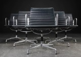 Charles Eames. Six office chairs from the 'Aluminium Group' series, model EA-108 (6)