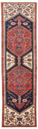 Handknuten persisk gallerimatta, Zanjan 285 x 77 cm