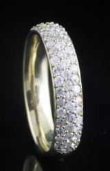 Goldplated diamond ring approx. 0.77ct