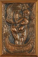 Henry Heerup. Kvinde og Barn, bronzerelief, 360/1500