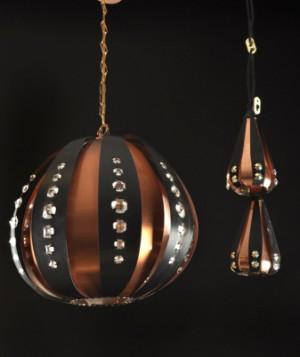 3 taklampor i kopparplåt, 1970-tal 3 Denna vara har satts till omförsäljning under nytt varunummer2514883
