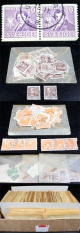 Samling frimärken, från 1880 och framåt