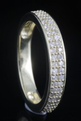 Goldplated diamond ring approx. 0.33ct