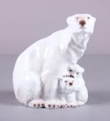 Lyngby Porcelæn, isbjørn med unger