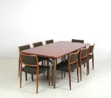 Arne Vodder, a conference table / dining table and chairs, model No. 80 by Niels O. Möller (9)
