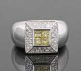 Diamond ring in 18kt approx. 1.12ct