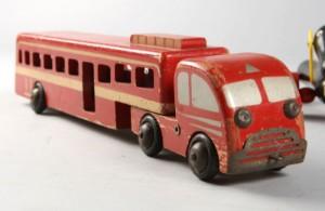 Dejlig Lego-bus rødbemalet træ | Lauritz.com AR-88