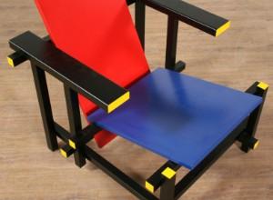 Stoel Gerrit Rietveld : Gerrit rietveld: rød blå stol lauritz.com