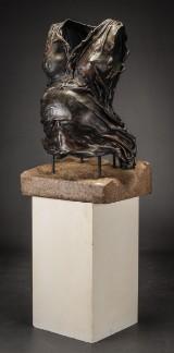 Jens Galschiøt. Unique sculpture, dress, patinated copper (2)