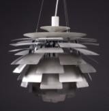 Poul Henningsen. 'PH Artichoke', brushed steel, Ø 60 cm