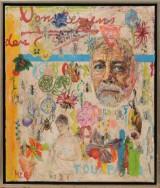 Hans Christian Rylander, oil / acrylic on canvas, composition, 'Ode til Boberg'