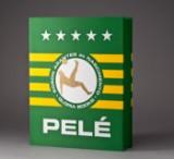 Signed Pelé art book