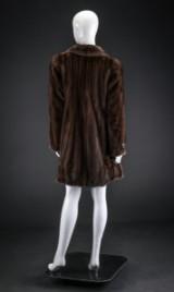 Mink coat, pastel, size 38 / 40