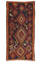 Persisk Kermanshah Kelim 333 x 155 cm.