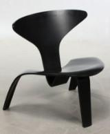 Poul Kjærholm. PK0 easy chair, black wood
