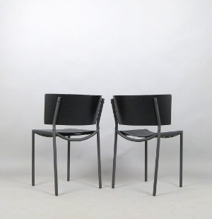 philippe starck paar st hle modell lila hunter f r xo. Black Bedroom Furniture Sets. Home Design Ideas