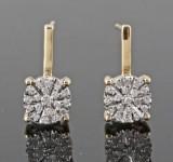 Diamond earrings, 14kt approx. 0.17ct (2).