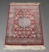Oriental silk rug, 73x105 cm