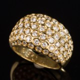 Brilliant cut diamond ring, 750 gold