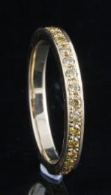 18kt. eternity diamond ring approx.0.55ct