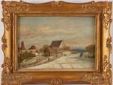 Carl August Fahlgren oljemålning