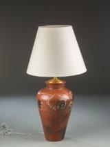 Stor indonesisk gulvlampe af keramik, 1900-tallet