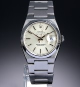 Rolex 'Datejust Oysterquartz'. Herreur i stål med sølvfarvet skive, ca. 1993