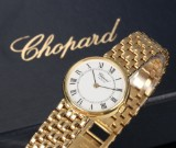 Chopard 'Classic' ladies' watch, 18 kt. gold, white dial