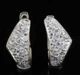 18kt cubic zirconia earrings