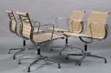 Charles Eames. Four armchairs EA-107. Hopsak (4)