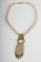 A necklace, 585 gold, with 90 cultured pearls, 30 diamonds