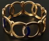 Armring, lapis lazuli med 1.60 ct. brillanter, 18 kt. guld