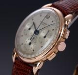 Universal 'Compax Chronograph'. Vintage men's watch, 18 kt. rosé gold, 1940-50s