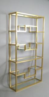 Pierre Vandel - Paris, shelf, 1970s/1980s, in brass