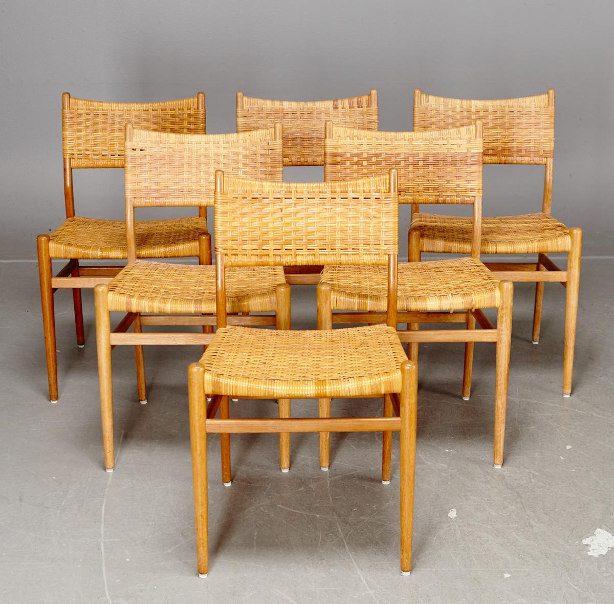 Nykomna Auktionstipset - Stolar, ek och rotting (6) JH-33