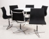 Charles & Ray Eames, table/dining chair plus six armchairs from the 'Aluminium Group' series model EA 106 by Vitra für Herman Miller (7)