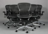 Donald Chadwick & William Stump. Six multi-adjustable office chairs, model Aeron Executive B (6)