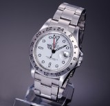 Rolex 'Explorer II'. Men's watch, steel with white dial with date, c. 1995