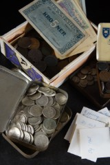 Samling mynt, Sverige, m.fl