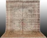A large carpet, Kashmir, silk, 430 x 300